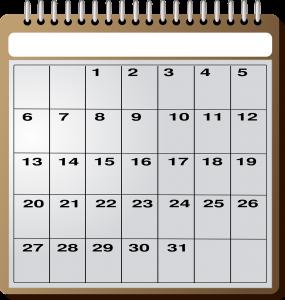 calendrier publicitaire